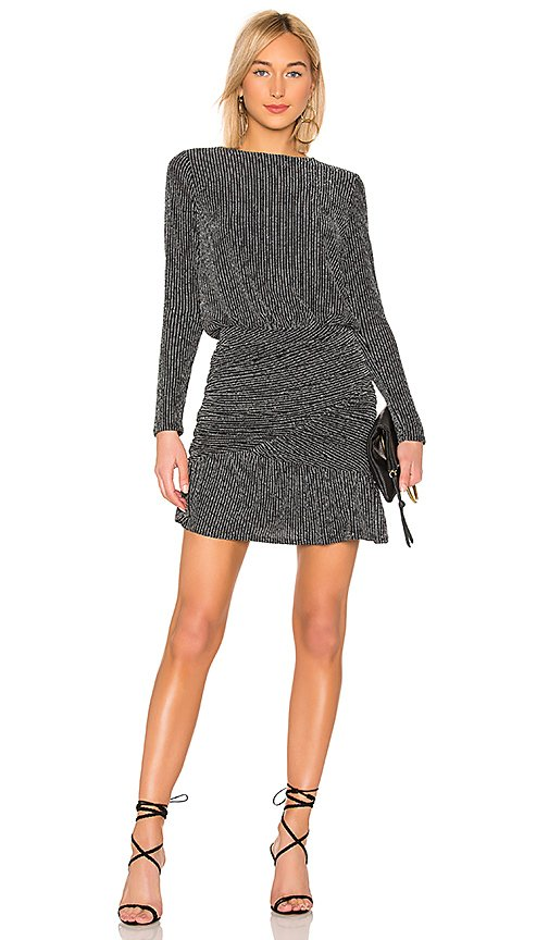 Drape Skirt Long Sleeve Mini Dress