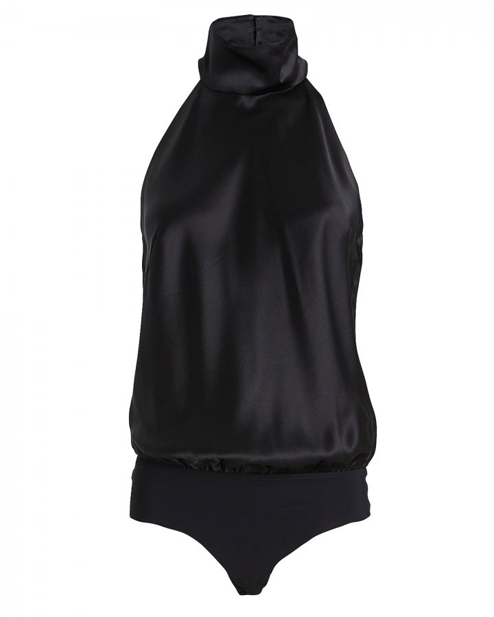 Laight Silk Halter Bodysuit