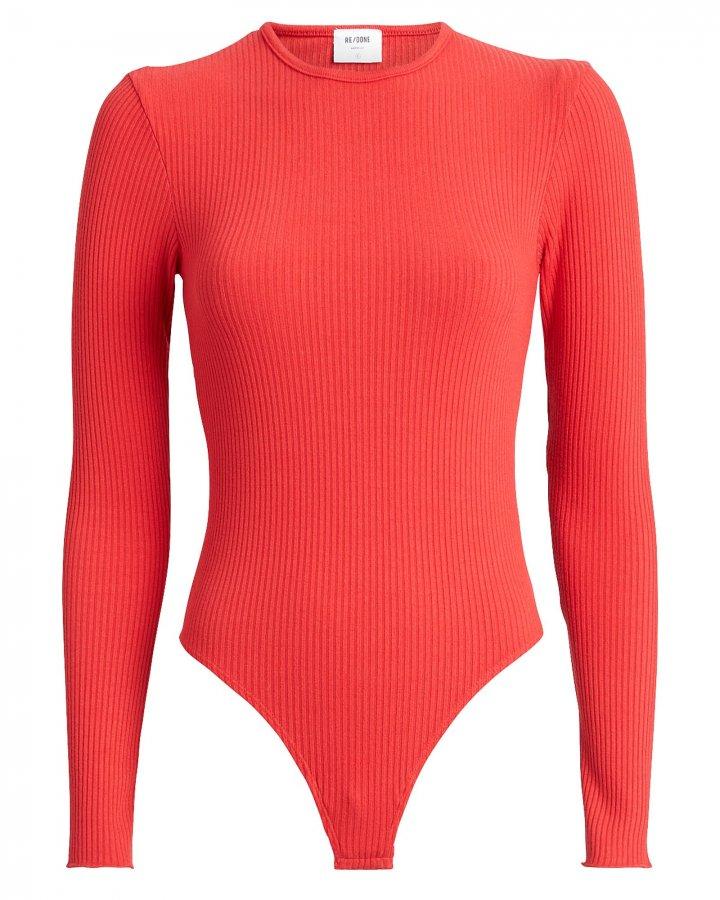 60\'s Rib Knit Bodysuit