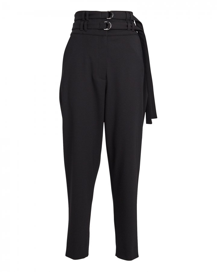 Double Belted Wool Pants