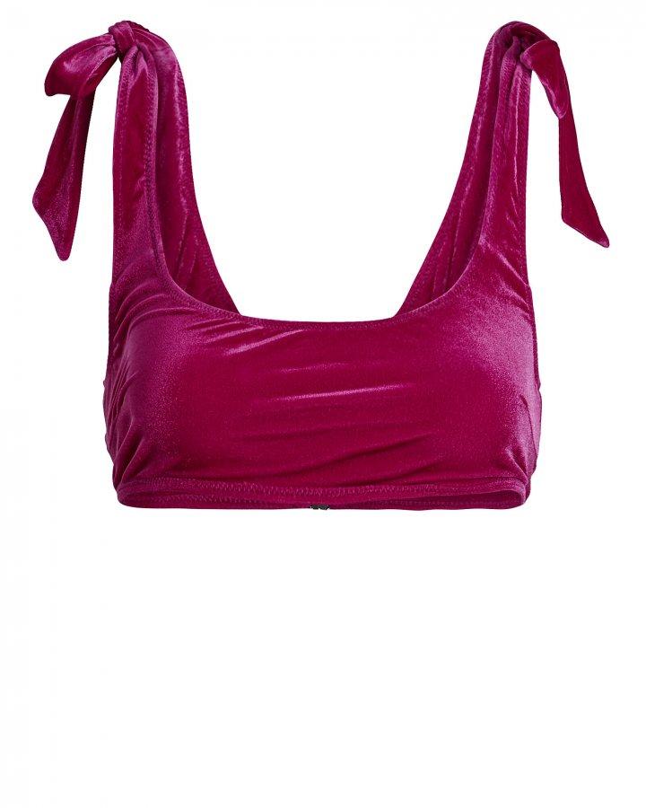 Velvet Bandeau Bikini Top