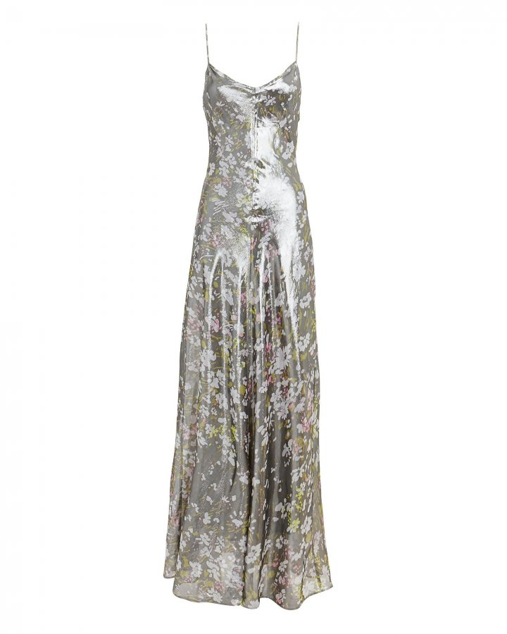 Floral Lurex Gown