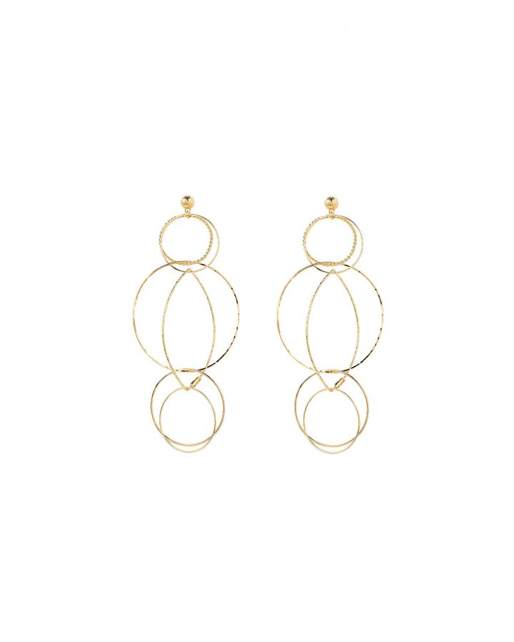 Torsade Circle Link Earrings