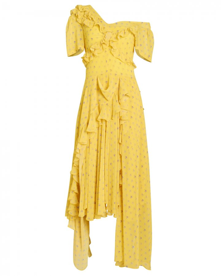 Kennedy Floral Georgette Asymmetric Dress