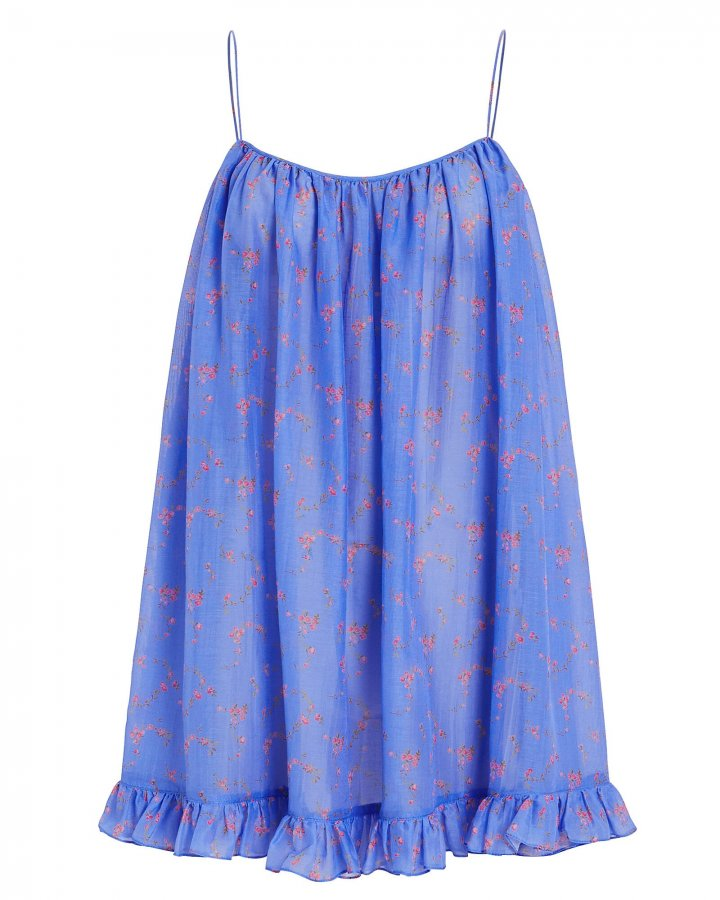 Floral Ruffled Voile Dress