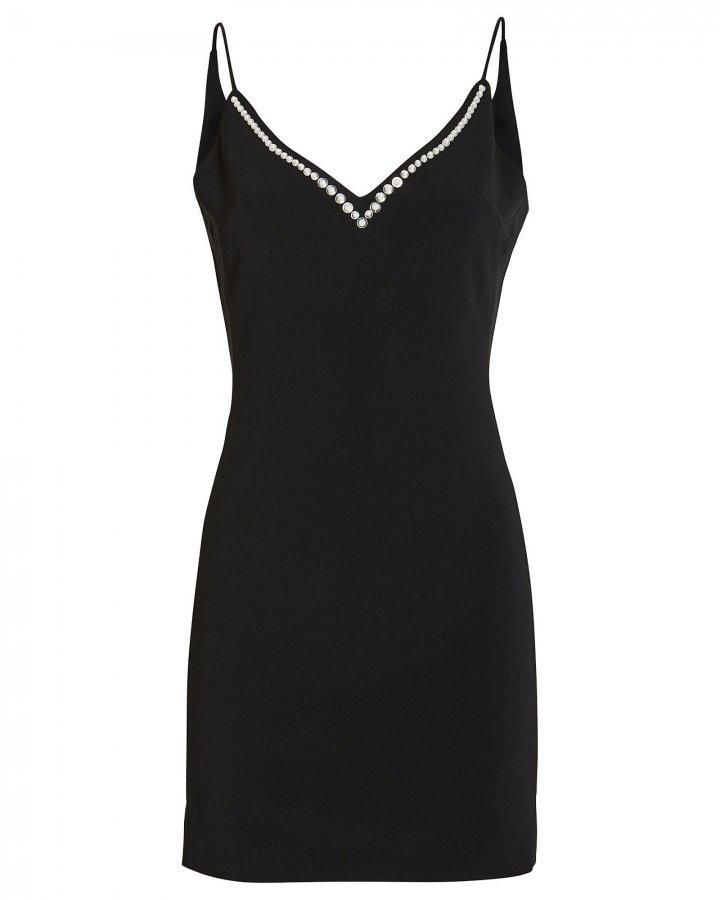 Pearl-Embellished Slip Dress