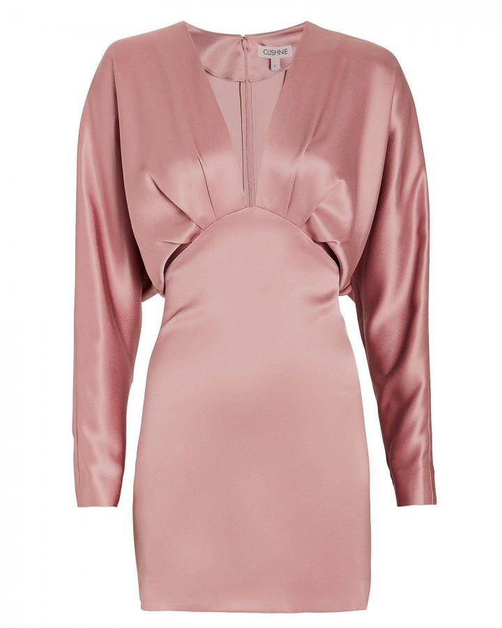 Satin Blouson Mini Dress