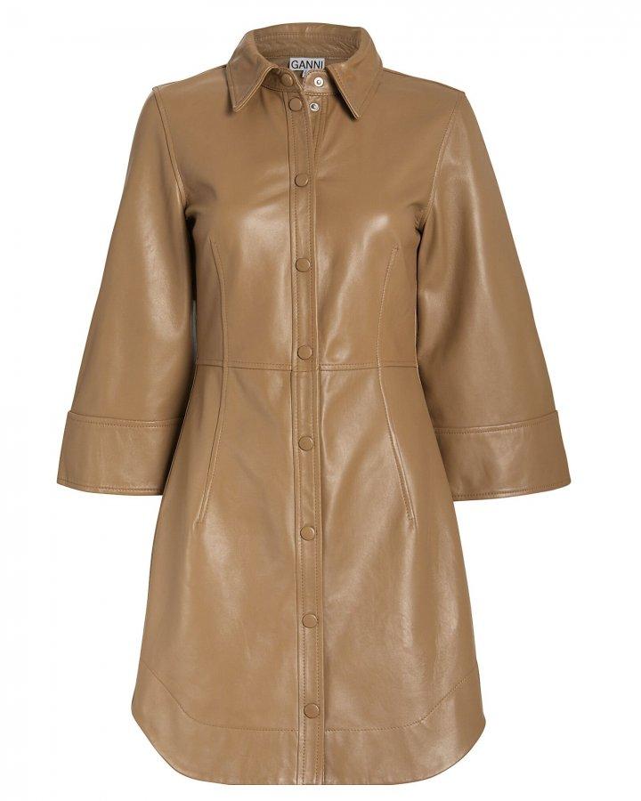 Lamb Leather Tailored Dress