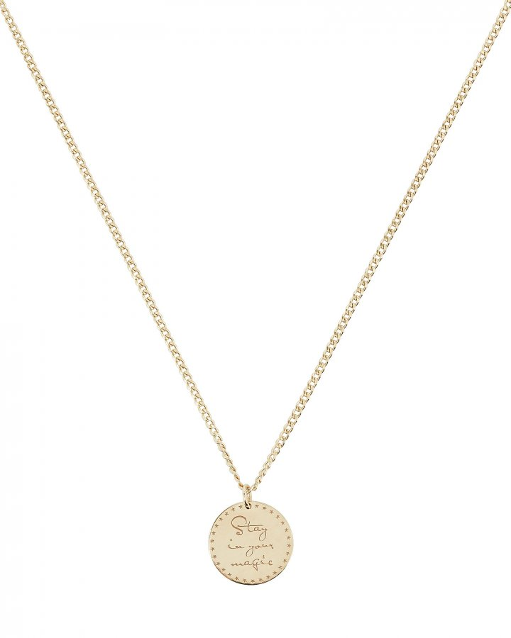 Gold Mantra Pendant Necklace