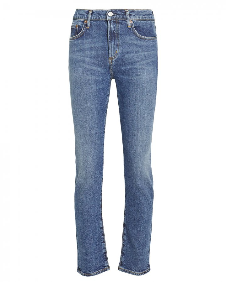 Toni Mid-Rise Straight Jeans