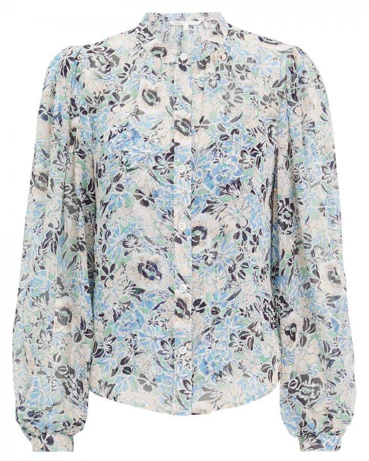 Ashlynn Silk Floral Blouse