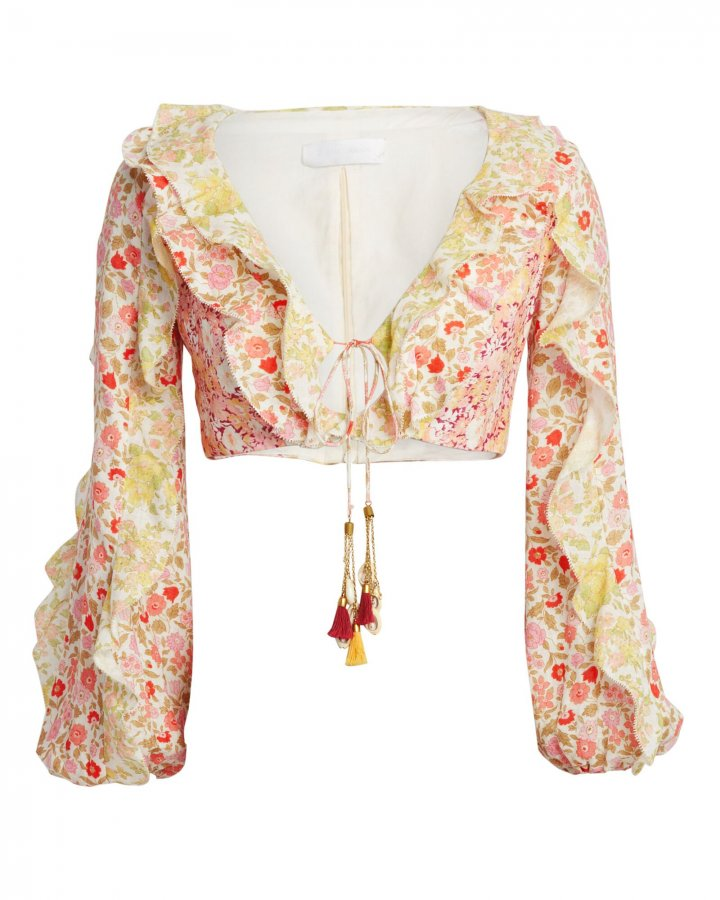 Goldie Ruffled Cropped Blouse