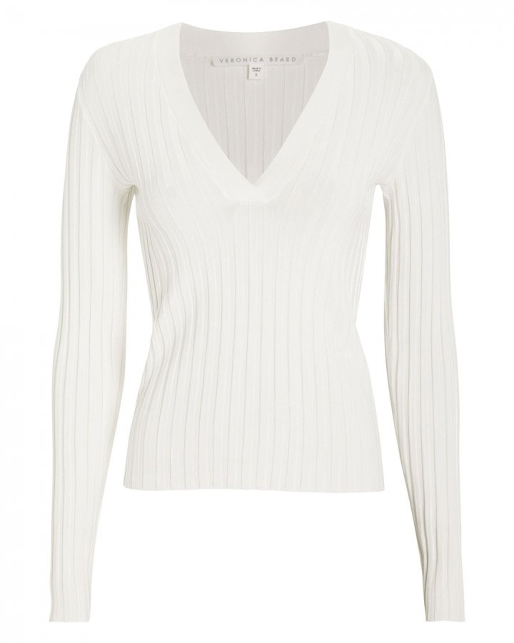 West Ribbed Cotton Sweater