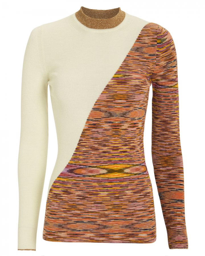 Colorblock Rib Knit Top