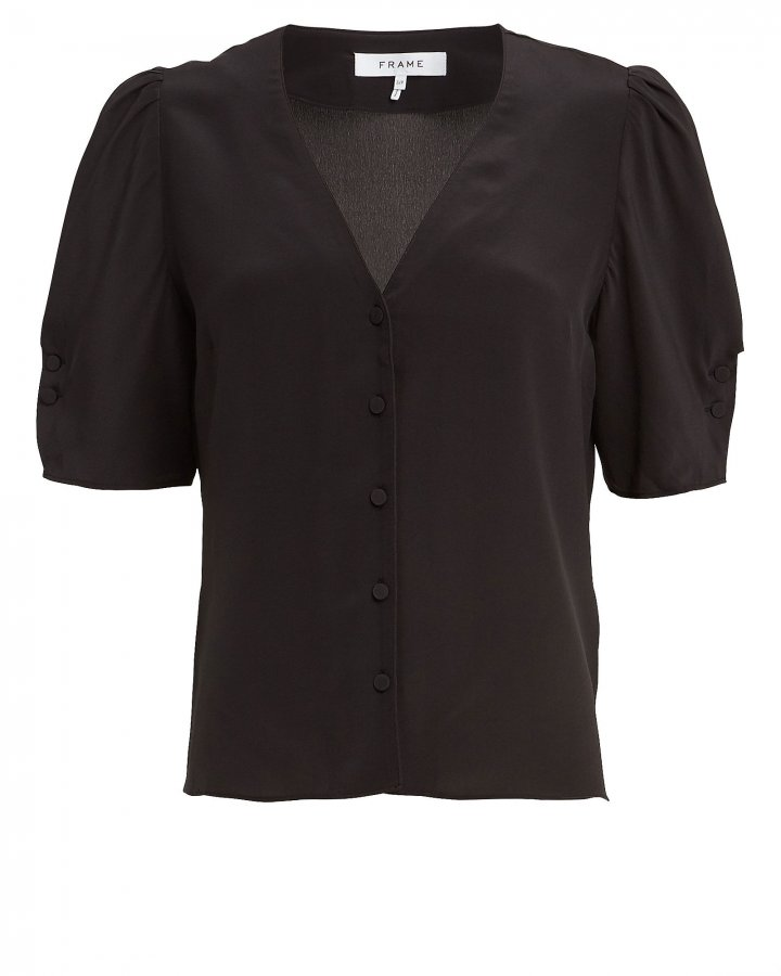 Olivia Silk Button Down Shirt
