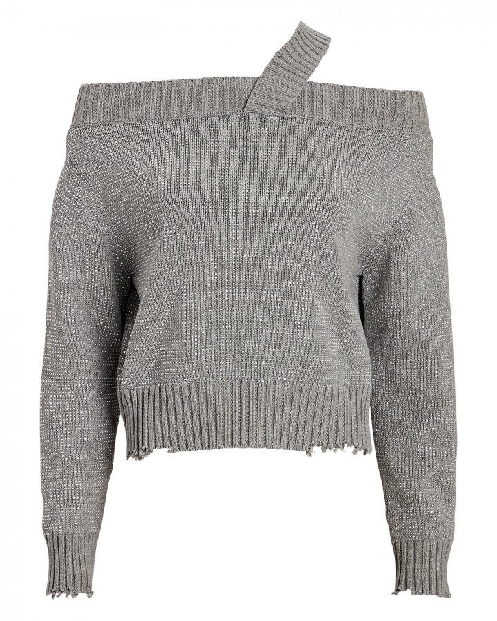 Beckett Sequined Cotton Sweater