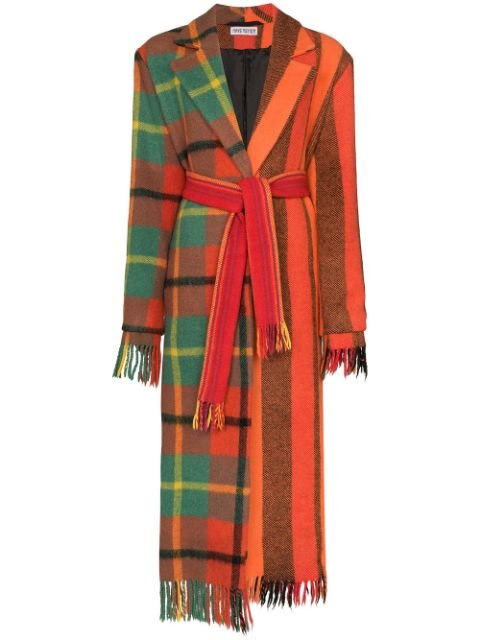 Rave Review Lola Panelled scarf-style Coat - Farfetch