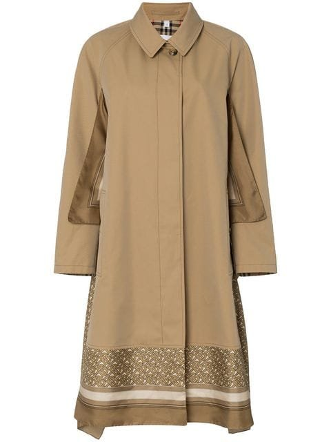 Burberry Scarf Detail Cotton Trench Coat - Farfetch