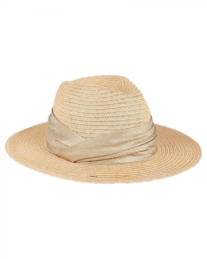 Courtney Ruched Straw Sun Hat