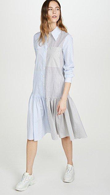 Colorblock Shirtdress