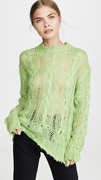 Kelena Mohair Cable Knitwear