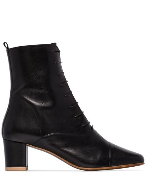 BY FAR Lada 50mm lace-up Ankle Boots - Farfetch