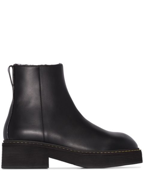 Marni shearling-lined Ankle Boots - Farfetch