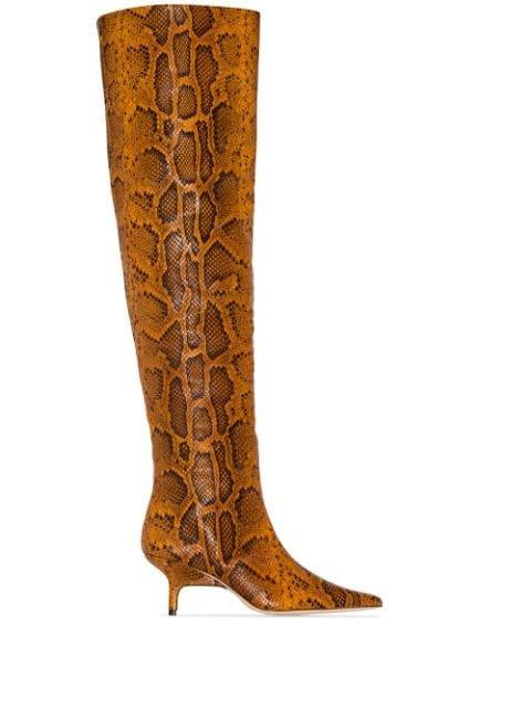 Rejina Pyo Ashley 65mm snake-effect Boots - Farfetch