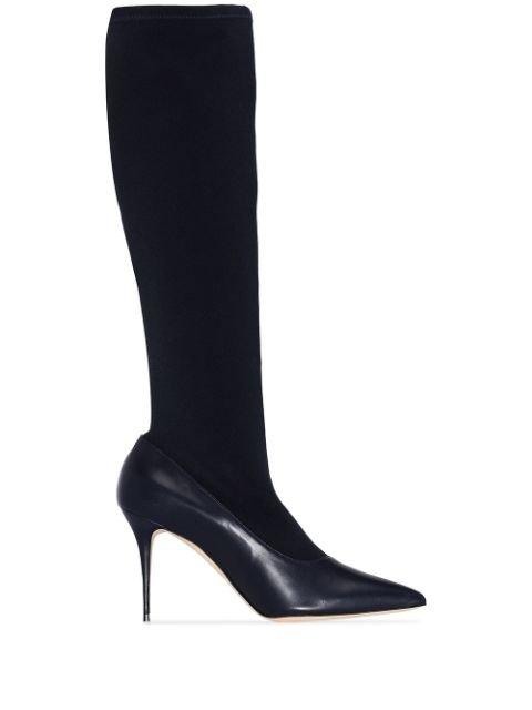 Manolo Blahnik Saipla knee-high Boots  - Farfetch