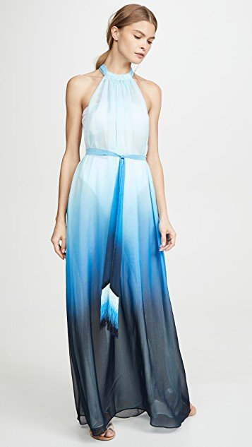 Ombre Halter Maxi Dress