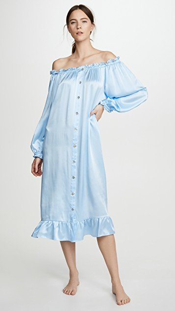 Maria Silk Loungewear Dress
