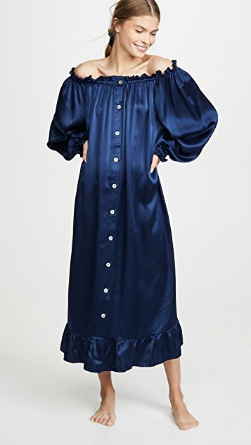 Curacao Silk Loungewear Dress