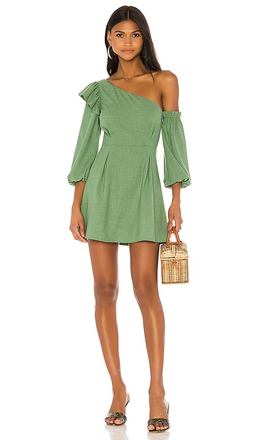 Jennie Mini Dress In Green