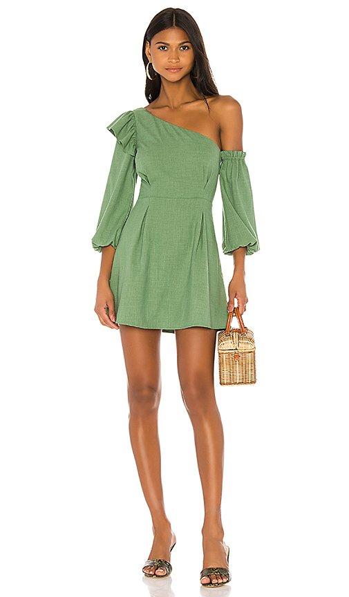Jennie Mini Dress In Green