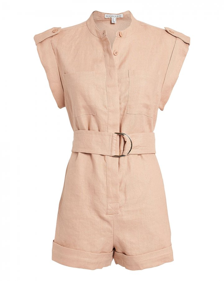 Savannah Sleeveless Linen Romper
