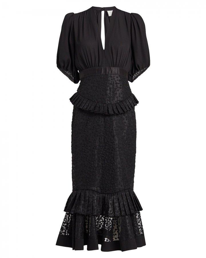 Dilarra Embroidered Chiffon Dress