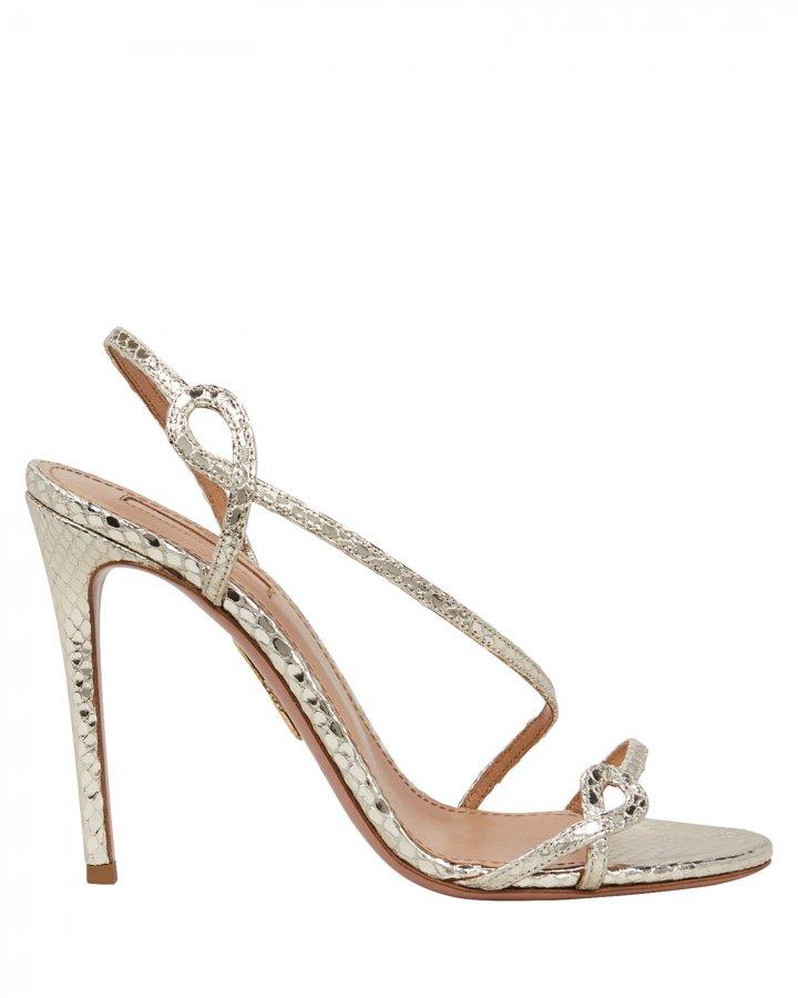 Serpentine 105 Embossed Metallic Sandals