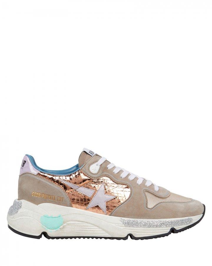 Running Sole Suede Sneakers