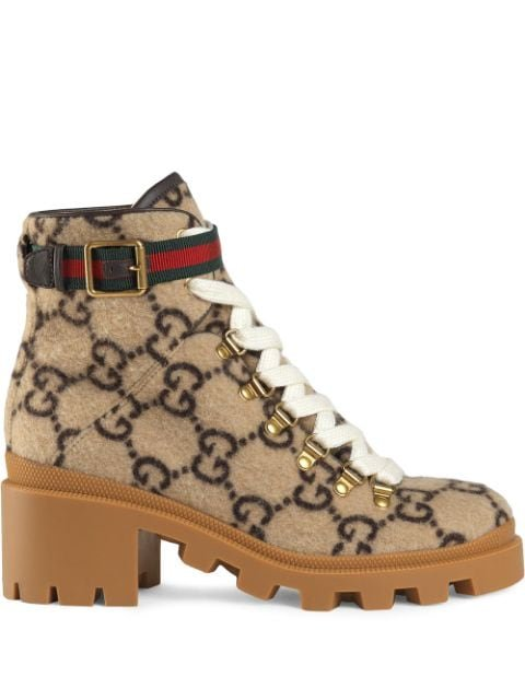 Gucci GG Wool Ankle Boot - Farfetch