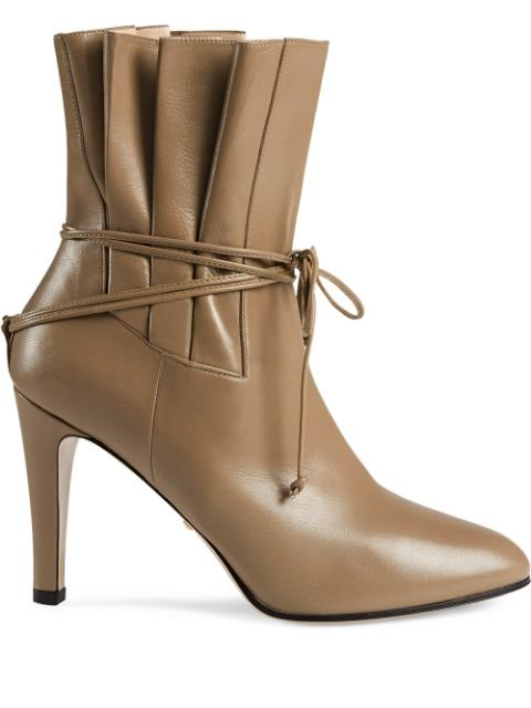 Gucci Gathered Bow Detail Ankle Boots - Farfetch