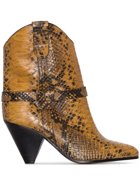 Isabel Marant Deane 75mm snake-effect Cowboy Boots - Farfetch