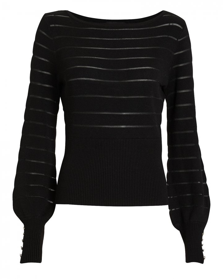 Freya Semi-Sheer Striped Sweater