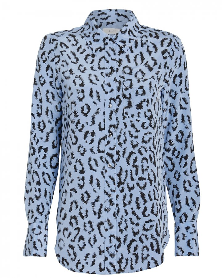 Emerson Leopard Button Front Shirt