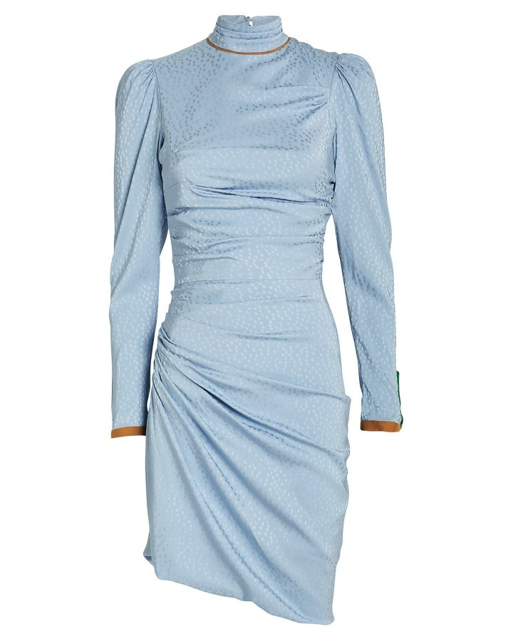 Vigdis Draped Jacquard Dress
