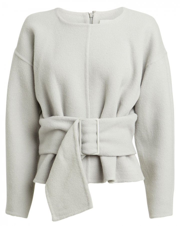 Belted Wool-Blend Sweater