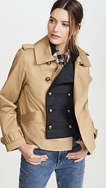 Half and Half Cropped Jacket