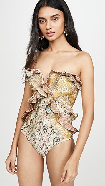 Freja Spliced Frill One Piece Swimsuit