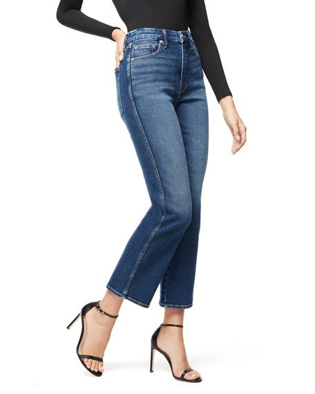 Good Curve Straight Jeans W/ Western Yoke - Inclusive Sizing