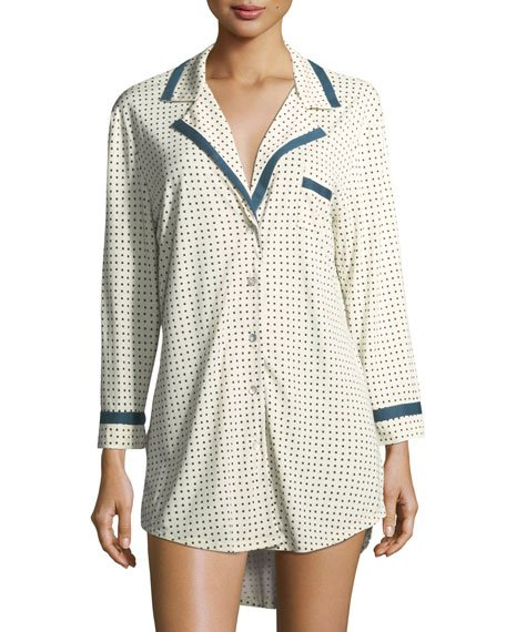 Bella Printed Long-Sleeve Sleepshirt