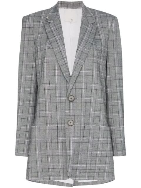 Tibi James Check Pattern Blazer - Farfetch